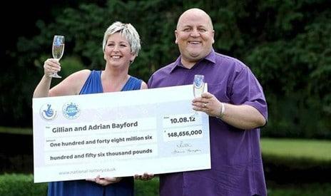 Lucky winners Gillian and Adrian Bayford
